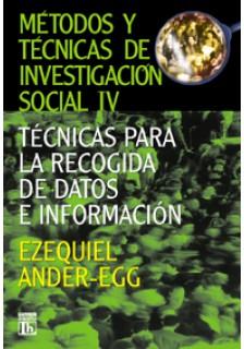 Métodos y técnicas de investigación social IV